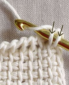 Fantastique tutoriel crochet tunisien par the Purl Bee (en anglais)