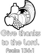 Psalm 136:1 Give thanks coloring page