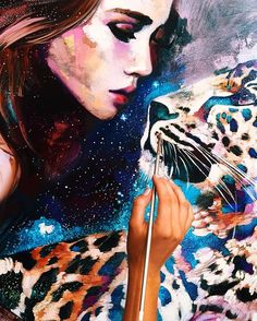 See how the stars shine for you...by 16 yr. old Dimitra Milan  ✨ #dimitramilanart #art #surreal #oilpainting
