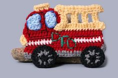 crochet fireman | Fire Truck Applique ... by ThePerfectKnot | Crocheting Pattern