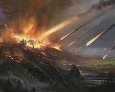 ArtStation - Cities in Ruin Expansion, Frej Agelii Fantasy Concept Art, Fantasy Art, Apocalypse Landscape, City Super, Ruined City, Eldritch Horror, Landscape Illustration, Fantasy Landscape, Fantasy World