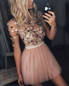 Pink Tulle Lace Fabric Embroidered with Pearls for Evening Gowns, Prom Dresses, Party Dresses, Fabric By The Yard - Homecoming Dresses Pretty Dresses, Sexy Dresses, Beautiful Dresses, Fashion Dresses, Prom Dresses, Formal Dresses, Bridesmaid Dresses, Casual Dresses, Wedding Bridesmaids