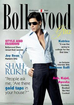 Shah Rukh Khan - Bollywood Glitz magazine cover
