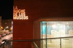 Varios M+M Neon Signs, Museums, Night