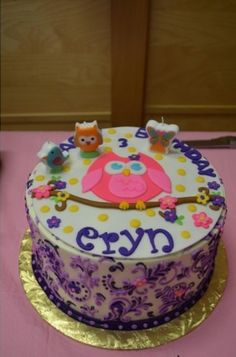 Owl birthday bash for 3yro party