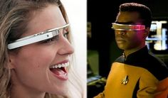 """In a project that channels Geordie LaForge from Star Trek: The Next Generation, Google unveiled concept artwork and video for 'Glass,' an augmented reality visor meant to be worn like a pair of space-age specs.  Under the supervision of Sergey Brin, the project aims to bring the capabilities of a smartphone to a user's sight — all hands-free."""