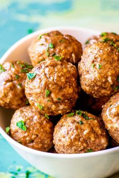 The Best Meatballs! Whether you're prepping for dinner or planning a party, this all-purpose recipe for the best meatballs can fit any occasion. Easy to adjust to your tastes and serving size! Party Food Meatballs, Sausage Meatballs, Best Meatballs, Italian Meatballs, Recipe For Meatballs, Turkey Meatballs, Beef Dishes, Food Dishes, Main Dishes