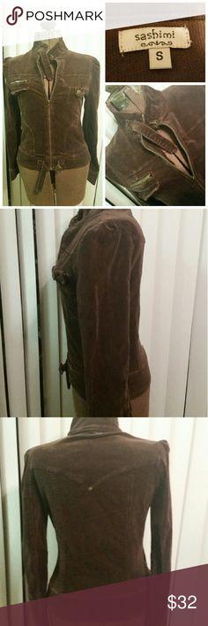 SASHIMI jacket Stretchy corduroy moto inspired jacket. Great details Sashimi Jackets & Coats