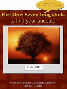 Do you have an ancestor that is hard to find? http://www.examiner.com/article/part-one-seven-long-shots-to-find-your-ancestor #genealogy #familyhistory