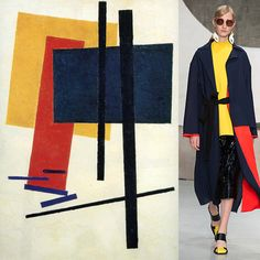 "fashofthetitans: "" Who wore it better? Marni S/S 16 vs Untitled (1915), Kazimir Malevich """