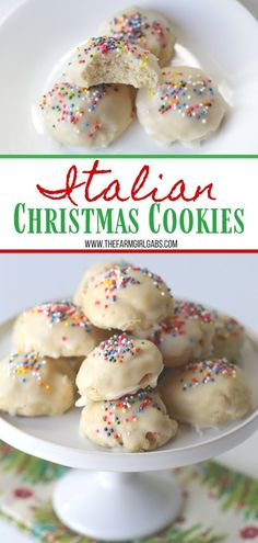 Italian Christmas Cookies are a delicious cake-like cookie with a hint of anise and sweet sugar glaze. This easy cookie recipe is great to serve any time of the year. dinner aesthetic Italian Christmas Cookies - The Farm Girl Gabs® Italian Christmas Cookie Recipes, Italian Cookie Recipes, Best Christmas Cookies, Christmas Cooking, Easy Cookie Recipes, Cookie Desserts, Holiday Recipes, Italian Cookies, Best Christmas Desserts