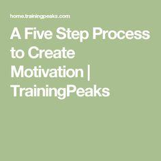 A Five Step Process to Create Motivation | TrainingPeaks