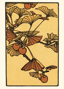 Gingko (boxed), letter press note cards
