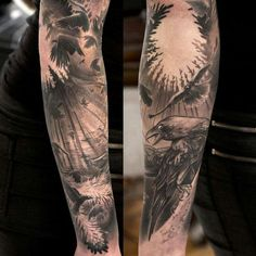 Crow tattoo!!! In love with this!!!