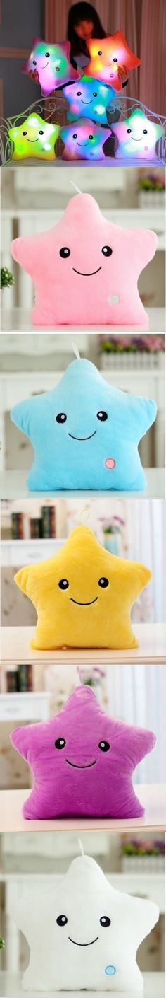 Luminous pillow Christmas Toys, Led Light Pillow,plush Pillow, Hot Colorful Stars,kids Toys, Birthday Gift YYT214-YYT218 $14.88