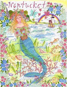 Paper Goods * Nantucket Mermaid