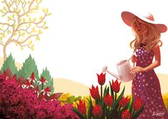 Garden in Summer by Zippora.deviantart.com on @deviantART