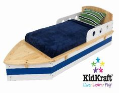 Toddler Boat Bed How cool!    #sailorman We just got this bed for Levi! I'm so excited!!