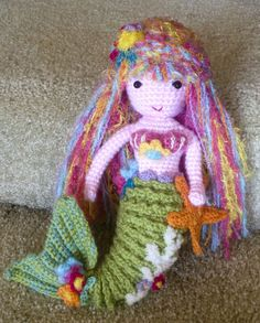 Free Knitting Pattern Mermaid Doll : 1000+ images about mermaid doll on Pinterest Mermaid dolls, Mermaids patter...