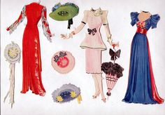 Vintage Saalfield 2438 Ann Sothern Paper Dolls 1943 Cut with Clothes not Repro | eBay