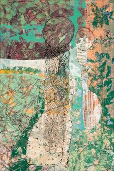 Inspired by nature, organic forms and repetition, Eva Isaksen primarly works with thin papers, where she prints, draws, cuts up and mixes layers of beautif