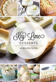 25 Key Lime Desserts - www.keylimedigitaldesigns.com