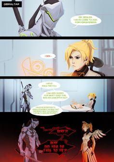 Overwatch: Genji and Mercy P#1 by Chuguy
