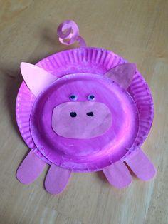 Toddler craft pig