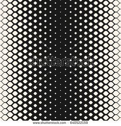 Vector halftone seamless pattern, stylish monochrome texture, visual transition effect, rounded geometric shapes. Modern repeat abstract background. Design for prints, decor, textile, fabric, covers