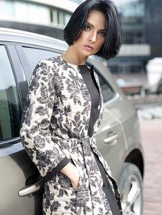 Пальто женское демисезонное цвет мультиколор, плащевая ткань, артикул 3016660v00090