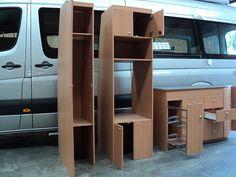 DIY conversion cabinetry - Sprinter Kitchen, Fridge Cabinet and Wardrobe