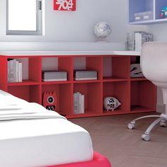 """#Arredamento #Cameretta Moretti Compact: Collezione 2012 """"Team"""" > Kids >> kc26 #letto #mensole http://www.moretticompact.it/kids.htm"""