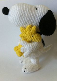 PDF CROCHET PATTERN Snoopy and Woodstock Inspired Amigurumi Best Picture For cute crochet toys For Your Taste You are looking for something, and it is going to tell you exactly what you are looking fo Cute Crochet, Crochet Crafts, Yarn Crafts, Crochet Baby, Crochet Projects, Knit Crochet, Blanket Crochet, Crochet Patterns Amigurumi, Crochet Dolls