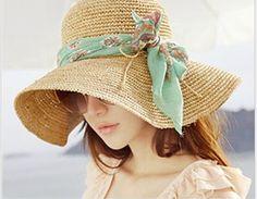 Sombreros tejidos para la playa - Imagui