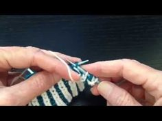 This is a demonstration of working Brioche Stitch in Two Colors with both the Continental and English methods.