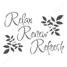 Relax, renew refresh #SPAugust