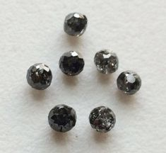 WHOLESALE 5 Pcs Dark Grey Faceted Diamond Balls by gemsforjewels