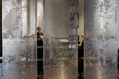 Best Ideas For Perforated Metal Screen Room Dividers Screen Design, Wall Design, Design Room, Partition Screen, Divider Screen, Partition Ideas, Rideaux Design, Casa Loft, Space Dividers