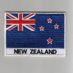 New-Zealand flag embroidered patches