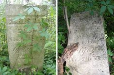 2 different stones still readable in an abandoned cemetery in southern Illinois.