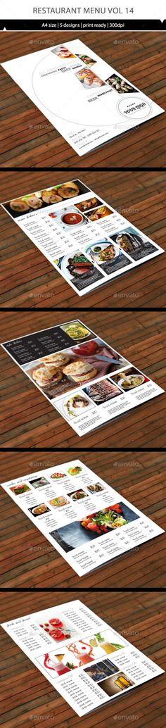 Restaurant Menu A4 Vol13 - Food Menus Print Templates