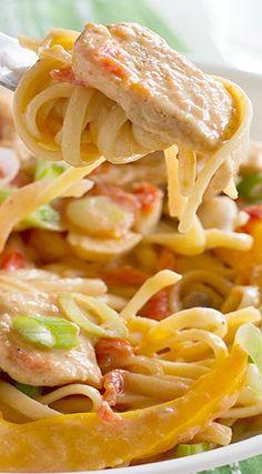 Lighter Cajun Chicken Pasta