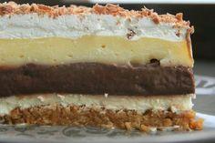 """""""Krémes élvezet"""" – irtózatosan finom és pofonegyszerű elkészíteni! - Tudasfaja.com Hungarian Desserts, Hungarian Cake, Hungarian Recipes, No Bake Desserts, Vegan Desserts, Dessert Recipes, Torte Cake, Cake Bars, My Recipes"""