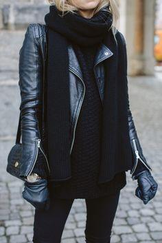 all black look