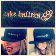 the cake ballers. We aren't saying we're the swaggiest of ballers, but we are just in LOVE with the new SnapBack baller hats! Thanks to @KSwag for puttin in work for us so we could sport our brand in style. www.cakeballers.com #thecakeballers #cakeballer #cakeballers #cakeballs #cake #cakepops #cakeballcake #eatmorecakeballs #snapbackswag #flatbrim #brassknuckles #swag #ballersofboise #cakeballersloveboise #hollerataballer #bam