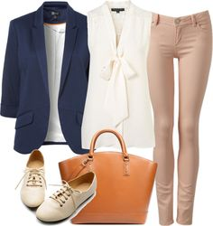 Eleanor inspired outfit with a navy blazer  Tall top / Blazer / Skinny leg jeans / Platform shoes / Zara  handbag