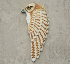 Horus Hawk Wing Egyptian Porcelain Cabochon By Loco Lobo Designs by LocoLoboDesigns on Etsy