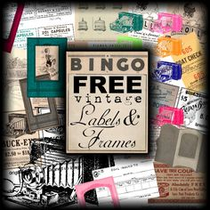 Free Vintage Labels and Frames by SweetlyScrapped