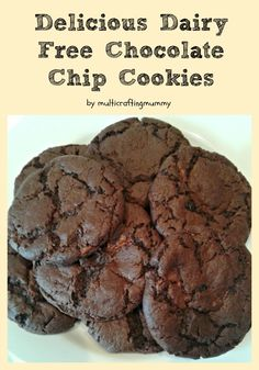 Yummy dairy free chocolate chip cookies which don't compromise on taste.