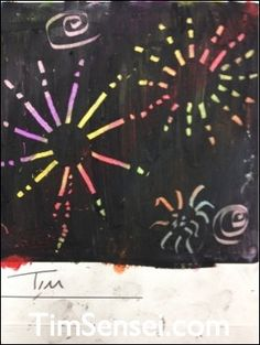 Fireworks Craft suitable for Hanamatsuri, November the 5th Guy Fawkes or 5th of July. Draw a rainbow with crayons. Colour over this with a black crayon. Scratch fireworks with a coin. Looks great. More photos and teaching tips on the blog.